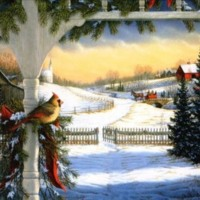 Christmas Country Scene