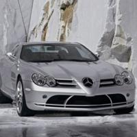 Silver Mercedes Mclaren