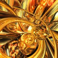 Orange & Yellow & Gold Abstract