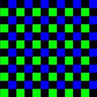 Green, Blue & Black Checkers