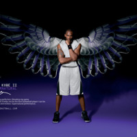 Kobe Bryant Purple Shoe Wings