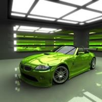 Green BMW Sportscar