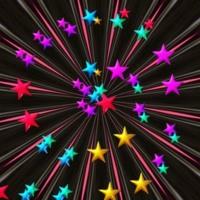 Rainbow Star Burst