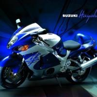Blue Suzuki Huyabusa