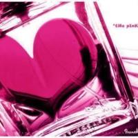 Glass Hot Pink Heart