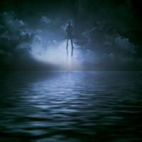 Dark Ocean & Floating Man