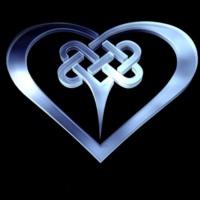 Blue tribal heart