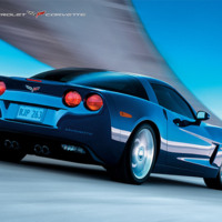 Blue Chevy Corvette