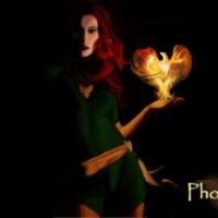 Woman in Green w/ Phoenix in Hand