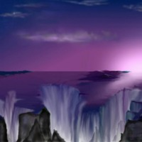 Purple Fantasy Waterfall