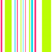 Hot Pink, Turquoise, Green & White Stripes