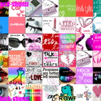 Girly Love Icon Collage