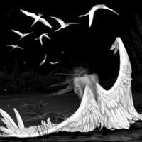 Broken Winged Angel in Lake