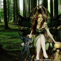 Green Fairy w/ Dark Little Fairy
