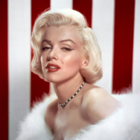 Marilyn Monroe & Red & White Stripes