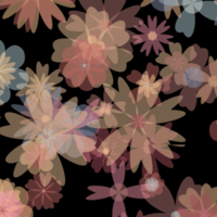Colorful flower silhouettes