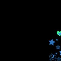 Green & blue hearts & stars