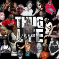 Tupac-Thug Life-R.I.P. Photo Collage
