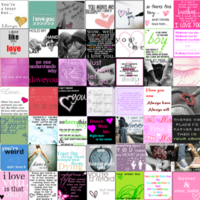 Love Quotes Tiles