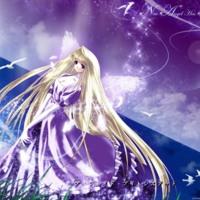 Purple Angel & Doves