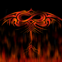 Tribal Phoenix & Flames