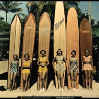 Vintage Female Surfers