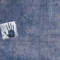 Steel Blue Handprint