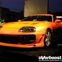 Orange Toyota Supra