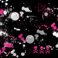 Grey & Pink Splatter Paint