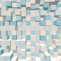 3-D Grey & Blue Boxes
