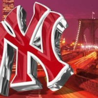 Red Yankees Logo & Brooklyn Bridge
