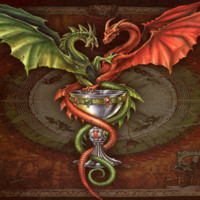 Green & Red Dragon w/ Goblet