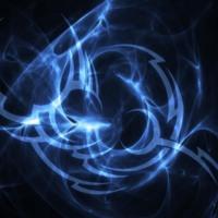 Blue Tribal & Blue Light Burst