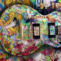 Wild Colorful Electric Guitar