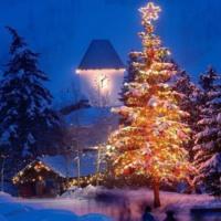 Blue Christmas Cottage