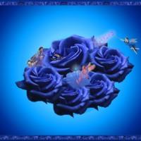 Violet Roses & Fairies