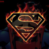 Superman Logo in Flames