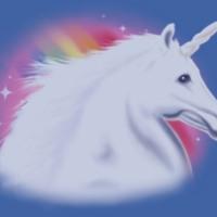 White Unicorn & Rainbow