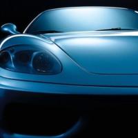 Blue Ferrari F430