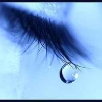Blue Tear Drop
