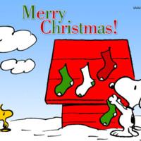 Snoopy & Woodstock Merry Christmas