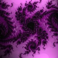 Purple & Black Abstract