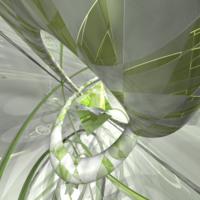 Lime & Silver Circles