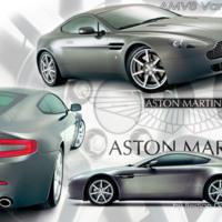 Silver Aston Martin