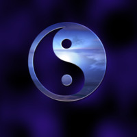Silver & Indigo Yin & Yang