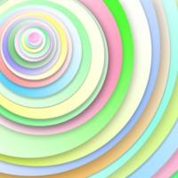 Pastel Spiral Circles