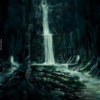 Underground Dark Waterfall