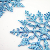 Blue Glitter Snowflakes