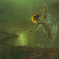 Twilight Faerie Over Landscape