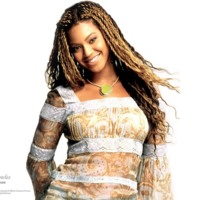 Beyonce in Brown & White